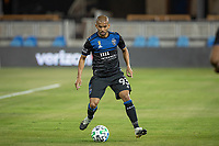 SAN JOSE, CA - SEPTEMBER 19: Judson #93 of the San Jose Earthquakes controls ball during a game between Portland Timbers and San Jose Earthquakes at Earthquakes Stadium on September 19, 2020 in San Jose, California.