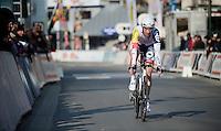 3 Days of De Panne.stage 3b: De Panne-De Panne TT..Kenny Dehaes (BEL) rolling in after his TT.