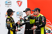 #26: Colton Herta, Andretti Autosport Honda<br /> #2: Josef Newgarden, Team Penske Chevrolet<br /> #22: Simon Pagenaud, Team Penske Chevrolet