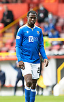 Aberdeen v St Johnstone…18.09.21  Pittodrie    SPFL<br />Efe Ambrose<br />Picture by Graeme Hart.<br />Copyright Perthshire Picture Agency<br />Tel: 01738 623350  Mobile: 07990 594431