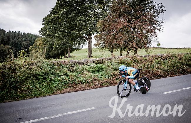 Alexey Lutsenko (KAZ/Astana)<br /> Elite Men Individual Time Trial<br /> from Northhallerton to Harrogate (54km)<br /> <br /> 2019 Road World Championships Yorkshire (GBR)<br /> <br /> ©kramon