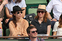 Audrey Marnay seen watching tennis during Roland Garros tennis open 2016 on may 27 2016.