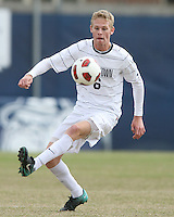 Ian Christianson #6 of Georgetown University during a Big East quarter-final  match against Providence University at North Kehoe Field, Georgetown University on November 6 2010 in Washington D.C.Providence won 2-1.