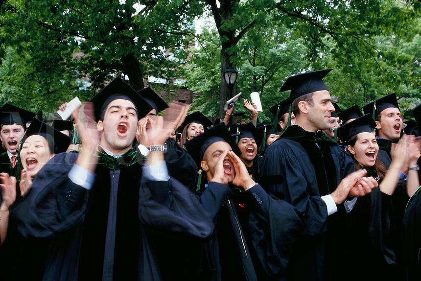 Medical students at graduation, Yale University, New Haven, CT