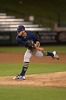 Milwaukee Brewers relief pitcher Thomas Jankins (47) during a Minor League Spring Training game against the Los Angeles Angels at Tempe Diablo Stadium on March 29, 2018 in Tempe, Arizona. (Zachary Lucy/Four Seam Images)