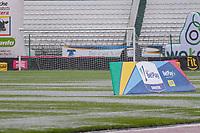 MANIZALES - COLOMBIA, 18-04-2021: Once Caldas y Deportivo Independiente Medellín en partido por la fecha 19 de la Liga BetPlay DIMAYOR I 2021 jugado en el estadio Palogrande de la ciudad de Manizalez. / Once Caldas and Deportivo Independiente Medellin in match for the date 19 as part of BetPlay DIMAYOR League I 2021 played at the Palogrande stadium in Manizales city. Photo: VizzorImage / John Jairo Bonilla / Cont