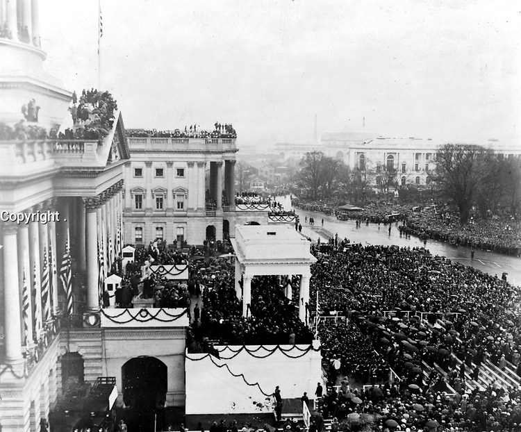 """President Hoover's inauguration, March 4, 1929 by National Photo (LOC) <br /> <br /> <br /> <br /> <br /> <br /> <br /> <br /> <br /> <br /> <br /> <br /> <br /> <br /> <br /> <br /> <br /> <br /> President Hoover's inauguration, March 4, 1929 by National Photo (LOC) by pingnews.com.<br /> Believed to be in Public Domain From Library of Congress, Prints and Photographs Collections. More on copyright: What does """"no known restrictions"""" mean?<br /> ______________________<br /> <br /> For information from Creative Commons on proper licensing for images believed to already be in the public domain please-- click here. By using this image from this site, you are acknowledging that you have read all the information in this description and accept responsibility for any use by you or your representatives. You are accepting responsibility for conducting any additional due diligence that may be necessary to ensure your proper use of this image.<br /> ________________<br /> <br /> <br /> <br /> Public Domain. Suggested credit: Library of Congress via pingnews. Additional information from source:<br /> <br /> TITLE: [President Hoover's inauguration, March 4, 1929]<br /> <br /> CALL NUMBER: LOT 12285, v. 1 [item] [P&P]<br /> Check for an online group record (may link to related items)<br /> <br /> REPRODUCTION NUMBER: LC-USZ62-126371 (b&w film copy neg.)<br /> <br /> RIGHTS INFORMATION: No known restrictions on publication.<br /> <br /> SUMMARY: Bird's-eye view of Capitol grounds and inaugural crowds, taken from the roof of the Capitol, looking north.<br /> <br /> MEDIUM: 1 photographic print.<br /> <br /> CREATED/PUBLISHED: 1929 March 4.<br /> <br /> NOTES:<br /> <br /> National Photo Company Collection (Library of Congress).<br /> <br /> In album: Inaugurations, v. 1, p. 48, Herbert E. French, National Photo Company.<br /> <br /> Original glass negative may be available: LC-F8-42087<br /> <br /> SUBJECTS:<br /> <br /> Hoover, Herbert,--1874-1964--Inauguration, 1929.<br /> Parade"""