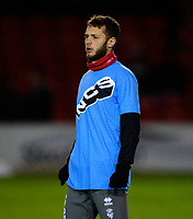 Lincoln City's Jorge Grant during the pre-match warm-up<br /> <br /> Photographer Andrew Vaughan/CameraSport<br /> <br /> The EFL Sky Bet League One - Lincoln City v Milton Keynes Dons - Tuesday 11th February 2020 - LNER Stadium - Lincoln<br /> <br /> World Copyright © 2020 CameraSport. All rights reserved. 43 Linden Ave. Countesthorpe. Leicester. England. LE8 5PG - Tel: +44 (0) 116 277 4147 - admin@camerasport.com - www.camerasport.com