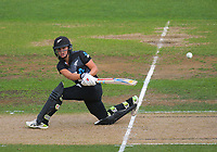NZ's Amelia Kerr bats during the 2nd international women's T20 cricket match between the New Zealand White Ferns and Australia at McLean Park in Napier, New Zealand on Tuesday, 30 March 2021. Photo: Dave Lintott / lintottphoto.co.nz