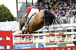 August 07, 2009: Beezie Madden (USA) aboard her mount Danny Boy. Meydan FEI Nations Cup. Failte Ireland Horse Show. The RDS, Dublin, Ireland.