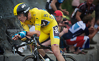 Chris Froome (GBR) on his way to winning the 2nd ITT in the 2013 Tour de France<br /> <br /> Tour de France 2013<br /> stage 17: ITT Embrun - Chorges 32km