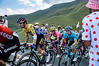 Primoz Roglic (SLV/Team Jumbo Visma), Miguel Angel Lopez (COL/Astana) and Rigoberto Uran (COL/EF Pro Cycling) up the Col de Peyresourde<br /> <br /> Stage 8 from Cazères-sur-Garonne to Loudenvielle 141km<br /> 107th Tour de France 2020 (2.UWT)<br /> (the 'postponed edition' held in september)<br /> ©kramon