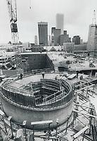 Eaton Centre Constructions<br /> <br /> Bezant, Graham<br /> Picture, 1976,<br /> <br /> 1976<br /> <br /> PHOTO : Graham Bezant - Toronto Star Archives - AQP