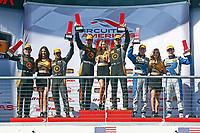 IMSA Continental Tire SportsCar Challenge<br /> Advance Auto Parts SportsCar Showdown<br /> Circuit of The Americas, Austin, TX USA<br /> Friday 5 May 2017<br /> 76, McLaren, McLaren GT4, GS, Matt Plumb, Paul Holton, 77, McLaren, McLaren GT4, GS, Nico Rondet, Mathew Keegan, 12, Porsche, Porsche Cayman GT4, GS, Cameron Cassels, Trent Hindman, podium<br /> World Copyright: Phillip Abbott<br /> LAT Images<br /> ref: Digital Image abbott_COTA_0517_7673