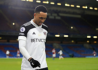 17th February 2021; Turf Moor, Burnley, Lanchashire, England; English Premier League Football, Burnley versus Fulham; Kenny Tete of Fulham walks around the perimeter of the pitch after he is substituted
