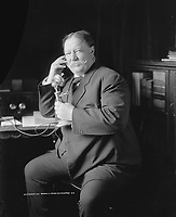 Taft learns by telephone from Roosevelt of his nomination for president. June 1, 1908<br /> <br /> William Howard Taft was the 27th president of the United States (March 4, 1909 - March 4, 1913) and the tenth chief justice of the United States, the only person to have held both offices<br /> <br /> <br /> PHOTO : George W. Harris via Agence Quebec Presse