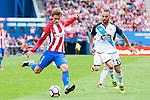 Atletico de Madrid's player Antoine Griezmann and Deportivo de la Coruña's player Guilherme during a match of La Liga Santander at Vicente Calderon Stadium in Madrid. September 25, Spain. 2016. (ALTERPHOTOS/BorjaB.Hojas)