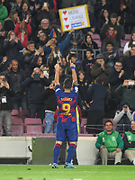 Luis Suarez celebrates after scoring a goal <br /> 07/12/2019 <br /> Barcelona - Maiorca<br /> Calcio La Liga 2019/2020 <br /> Photo Paco Largo Panoramic/insidefoto <br /> ITALY ONLY