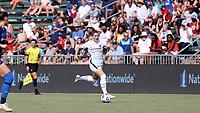 CARY, NC - SEPTEMBER 12: Natalia Kuikka #14 of the Portland Thorns FC runs with the ball during a game between Portland Thorns FC and North Carolina Courage at Sahlen's Stadium at WakeMed Soccer Park on September 12, 2021 in Cary, North Carolina.