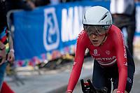 Anna Kiesenhofer (AUT) after finishing<br /> <br /> Women Elite Individual Time Trial from Knokke-Heist to Bruges (30.3 km)<br /> <br /> UCI Road World Championships - Flanders Belgium 2021<br /> <br /> ©kramon