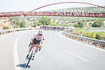 Stan Dewulf (BEL) AG2R-Citroën Team tries to breakaway during Stage 12 of La Vuelta d'Espana 2021, running 175km from Jaén to Córdoba, Spain. 26th August 2021. <br /> Picture: Unipublic/Charly Lopez   Cyclefile<br /> <br /> All photos usage must carry mandatory copyright credit (© Cyclefile   Charly Lopez/Unipublic)