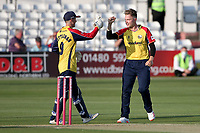 Sam Cook of Essex celebrates taking the wicket of D'Arcy Short during Essex Eagles vs Hampshire Hawks, Vitality Blast T20 Cricket at The Cloudfm County Ground on 11th June 2021