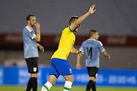 17th November 2020; Centenario Stadium, Montevideo, Uruguay; Fifa World Cup 2022 Qualifying football; Uruguay versus Brazil; Arthur of Brazil celebrates his goal in the 34th minute 0-1
