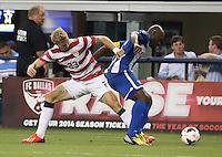 Brek Shea #23 of the USMNT in action against Honduras on July 24, 2013 at Dallas Cowboys Stadium in Arlington, TX. USMNT won 3-1.