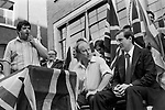 John Tyndall and  Martin Webster National Front march and rally south London 1978.