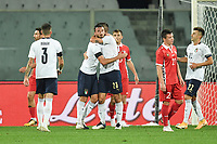 Bryan Cristante of Italia celebrates after scoring a goal<br /> during the friendly football match between Italy and Moldova at Artemio Franchi Stadium in Firenze (Italy), October, 7th 2020. Photo Andrea Staccioli/ Insidefoto