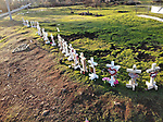 Crosses For Losses erected by Greg Zanis Skyway and Skyway Crossroad Paradise, CA