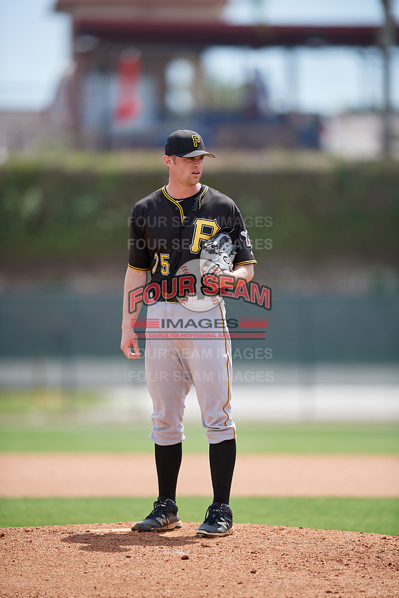 Pittsburgh Pirates pitcher Matt Frawley (75) looks in for the sign during a minor league Spring Training game against the Philadelphia Phillies on March 24, 2017 at Carpenter Complex in Clearwater, Florida.  (Mike Janes/Four Seam Images)