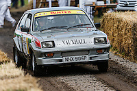 Lee Kedward driving his 1983 2.3 litre 4 cylinder Vauxhall Chevette HSR on the Forest Rally stage during the Goodwood Festival of Speed 2016 at Goodwood, Chichester, England on 24 June 2016. Photo by David Horn / PRiME Media Images