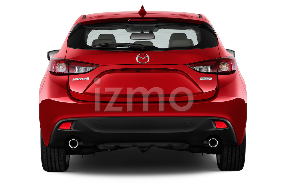 Straight rear view of a 2014 Mazda Mazda 3 I Grand Touring HatchBack