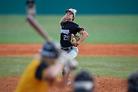 Tobin Moran (29) during the WWBA World Championship at Terry Park on October 11, 2020 in Fort Myers, Florida.  Tobin Moran, a resident of Palm Beach Gardens, Florida who attends Palm Beach Gardens High School, is committed to Santa Fe College.  (Mike Janes/Four Seam Images)
