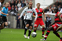Pictured: Thomas Butler of Swansea City in action<br />