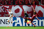 Shanghai FC Defender Zhang Wei (R) plays against Sydney Wanderers Defender Scott Neville (L) during the AFC Champions League 2017 Group F match between Shanghai SIPG FC (CHN) vs Western Sydney Wanderers (AUS) at the Shanghai Stadium on 28 February 2017 in Shanghai, China. Photo by Marcio Rodrigo Machado / Power Sport Images