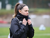 Renate-Ly Mehevets (15 Charleroi) before a female soccer game between FC Femina White Star Woluwe and Sporting Charleroi on the 10 th matchday of the 2020 - 2021 season of Belgian Scooore Womens Super League , Saturday 19 th of December 2020  in Woluwe , Belgium . PHOTO SPORTPIX.BE | SPP | SEVIL OKTEM
