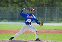 18 April 2006: Thomas Medina pitches during the third of seven 2006 MLB European Academy Try-out Sessions throughout Europe, at Stade Pershing, INSEP, near Paris, France. Try-out sessions are run by members of the Major League Baseball Scouting Bureau with assistance from MLBI staff.
