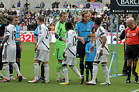 Pictured: (L-R) Leroy Lita, Mark Gower, Nathan Dyer and Scott Sinclair of Swansea City. Saturday 17 September 2011<br /> Re: Premiership football Swansea City FC v West Bromwich Albion at the Liberty Stadium, south Wales.