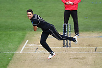 20th March 2021; Dunedin, New Zealand;  Trent Boult bowls during the New Zealand Black Caps v Bangladesh International one day cricket match. University Oval, Dunedin.
