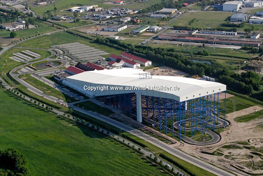 Snow Funpark: EUROPA, DEUTSCHLAND, MECKLENBURG VORPOMMERN  (GERMANY), 14.05.2008: Deutschland, Europa, Freizeit, Funpark, Mecklenburg, Skihalle, Snow, Sport, Tourismus, Vorpommern, Wittenburg, Luftaufnahme, Luftbild, Luftansicht, .c o p y r i g h t : A U F W I N D - L U F T B I L D E R . de.G e r t r u d - B a e u m e r - S t i e g 1 0 2, 2 1 0 3 5 H a m b u r g , G e r m a n y P h o n e + 4 9 (0) 1 7 1 - 6 8 6 6 0 6 9 E m a i l H w e i 1 @ a o l . c o m w w w . a u f w i n d - l u f t b i l d e r . d e.K o n t o : P o s t b a n k H a m b u r g .B l z : 2 0 0 1 0 0 2 0  K o n t o : 5 8 3 6 5 7 2 0 9.C o p y r i g h t n u r f u e r j o u r n a l i s t i s c h Z w e c k e, keine P e r s o e n l i c h ke i t s r e c h t e v o r h a n d e n, V e r o e f f e n t l i c h u n g n u r m i t H o n o r a r n a c h M F M, N a m e n s n e n n u n g u n d B e l e g e x e m p l a r !.