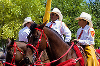 Santa Fe festival with traditional costumes and folkdance in  New Mexico, USA