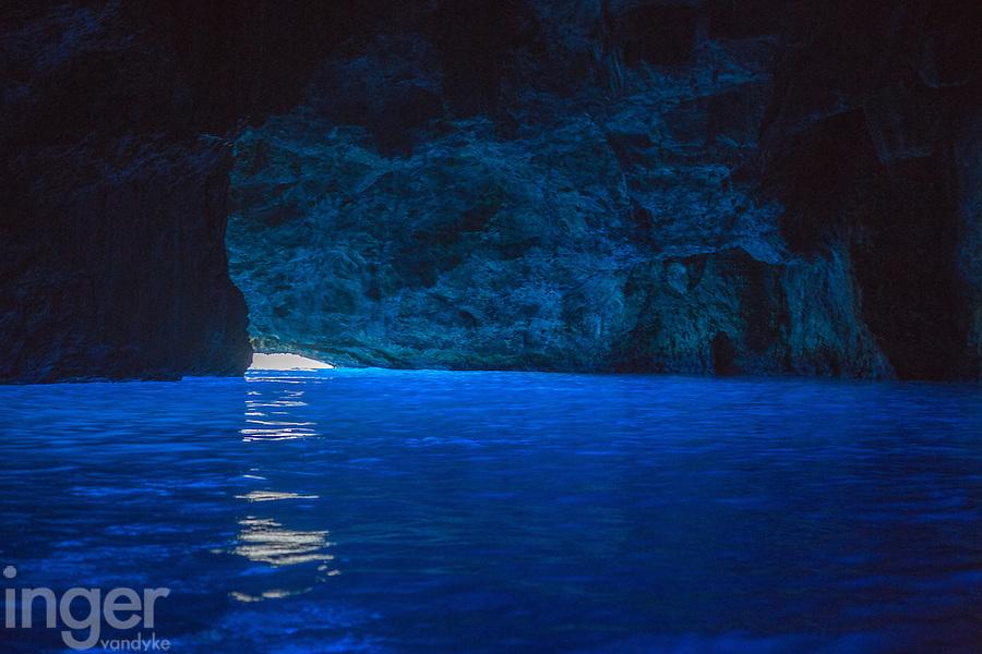 Blue Grotto on Kastellorizo, Greece