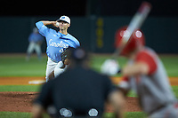 North Carolina Tar Heels relief pitcher Cole Aker (44) in action against the North Carolina State Wolfpack in Game Twelve of the 2017 ACC Baseball Championship at Louisville Slugger Field on May 26, 2017 in Louisville, Kentucky. The Tar Heels defeated the Wolfpack 12-4. (Brian Westerholt/Four Seam Images)