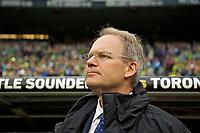 Seattle Sounders head coach Brian Schmetzer
