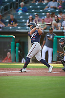 Stuart Fairchild (22) of the Reno Aces at bat against the Salt Lake Bees at Smith's Ballpark on August 24, 2021 in Salt Lake City, Utah. The Aces defeated the Bees 6-5. (Stephen Smith/Four Seam Images)