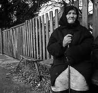 Chernobyl, Ukraine, Ocober 1995..The explosion at the Chernobyl Nuclear Power Plant on April 26 1986 was the worst nuclear accident in history..Like many older residents Yelisavola Ryka  has returned to live illegally in her home in the closed and radioactive zone surrounding Chernobyl.