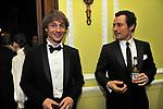 """GIORGIO PASOTTI CON STEFANO ACCORSI<br /> PREMIERE """"BACIAMI ANCORA"""" DI GABRIELE MUCCINO  - RICEVIMENTO AL HOTEL MAJESTIC  ROMA 2010"""
