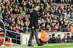 Manager Cristobal Parralo Aguilera of RC Deportivo La Coruna during the La Liga 2017-18 match between FC Barcelona and Deportivo La Coruna at Camp Nou Stadium on 17 December 2017 in Barcelona, Spain. Photo by Vicens Gimenez / Power Sport Images